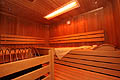 Sauna with colored light and infrared cabin for body and soul - spacious resting room for relaxing and feeling well...